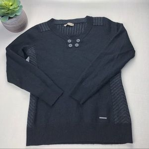 SmartWool Sweater 100% Merino Wool Pullover Black